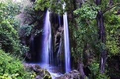 Cachoeira pequena no por do sol Fotografia de Stock