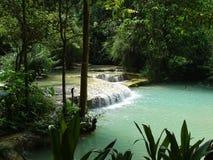 Cachoeira perto do prebang do luang Fotografia de Stock