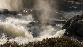Cachoeira posta Imagens de Stock Royalty Free