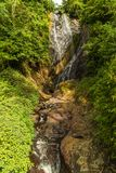 Cachoeira profunda da floresta fotografia de stock