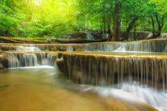 Cachoeira profunda da floresta em Tailândia fotografia de stock royalty free