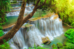 Cachoeira profunda da floresta em Tailândia imagens de stock