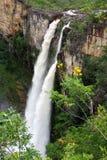 Cachoeira robi Brasil Salta, Chapada dos Veadeiros -, Goià ¡ s - Fotografia Stock