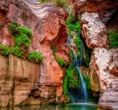 Cachoeira secreta da falha dos duendes fotografia de stock royalty free