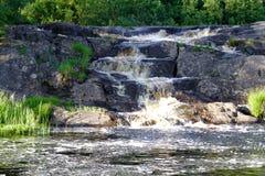Cachoeira selvagem ao noroeste da natureza Imagens de Stock