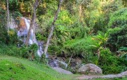 Cachoeira sempre-verde da floresta em Chiang Mai, Tailândia Fotografia de Stock Royalty Free