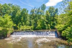 Cachoeira sintética em Stony Brook fotos de stock