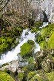 Cachoeira Skaklia, vila de Bov, desfiladeiro de Iskarsko Foto de Stock Royalty Free
