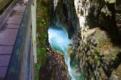 Cachoeira Stanghe, Itália Fotografia de Stock
