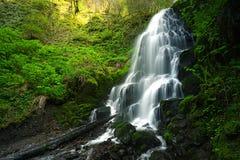 Cachoeira Sunlit Foto de Stock Royalty Free
