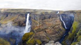 Cachoeira surpreendente em Islândia Fotografia de Stock Royalty Free