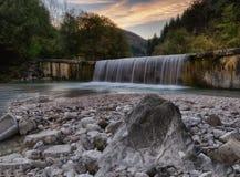 Cachoeira Torre Tarcento (Itália) Fotografia de Stock Royalty Free