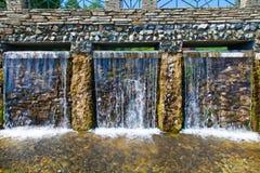 Cachoeira tripla Fotos de Stock Royalty Free