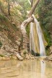 Cachoeira turística famosa do Neda do destino em Peloponnese em Grécia Fotografia de Stock Royalty Free