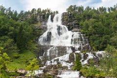 Cachoeira Tvindefossen, Noruega Fotos de Stock