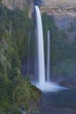 Cachoeira Velo de la Novia - Maule, o Chile Foto de Stock Royalty Free