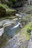 Cachoeira, Watkins Glen State Park, New York, não Imagens de Stock