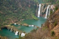 A cachoeira yunnan do dragão de Jiulong nove, porcelana fotografia de stock