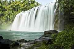 Cachoeiras com água de seda fotos de stock
