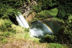 Cachoeiras com arco-íris dobro Fotos de Stock Royalty Free
