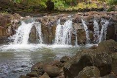 Cachoeiras da rainha Lili'uokalani fotografia de stock