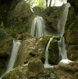 Cachoeiras de Bachkovo na montanha de Rhodopes Fotografia de Stock