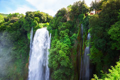Cachoeiras de Cascata Delle Marmore Fotografia de Stock Royalty Free
