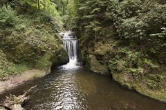 Cachoeiras de Geroldsauer, Baden Baden, rttemberg do ¼ de Baden WÃ, Alemanha Foto de Stock