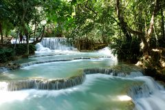 Cachoeiras de Kouang Xi Imagem de Stock Royalty Free