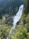 Cachoeiras de Krimml em Áustria Fotos de Stock