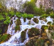 Cachoeiras de lagos Plitvice foto de stock royalty free
