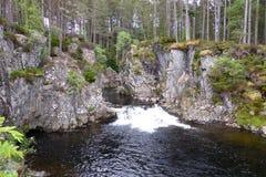 Cachoeiras de Pattack, Escócia imagens de stock