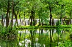 Cachoeiras de Pliva Fotografia de Stock