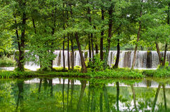 Cachoeiras de Pliva Imagens de Stock Royalty Free