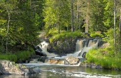 Cachoeiras de Ruskeala, rio Tohmajoki Carélia Fotografia de Stock