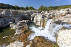 Cachoeiras de Sautadet em France do sul fotografia de stock