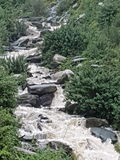 Cachoeiras dharamsala Himachal Pradesh de Bhagsu Foto de Stock