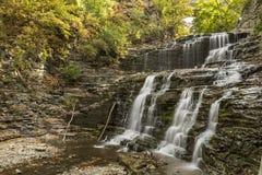 Cachoeiras do desfiladeiro de Cascadilla Imagens de Stock Royalty Free