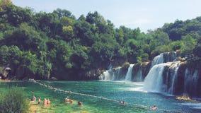 Cachoeiras do parque nacional de Krka na Croácia fotografia de stock royalty free