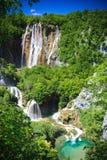 Cachoeiras do parque nacional de Plitvice, Croatia Imagens de Stock