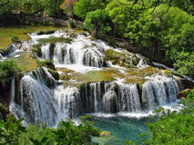 Cachoeiras do rio de Krka no parque nacional de Krka imagens de stock royalty free