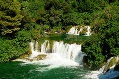 Cachoeiras e rapids múltiplos Foto de Stock Royalty Free