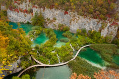 Cachoeiras em Plitvicka Jezera - Plitvice Fotografia de Stock Royalty Free