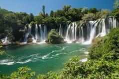 Cachoeiras em Bósnia e em Herzegovina Fotografia de Stock