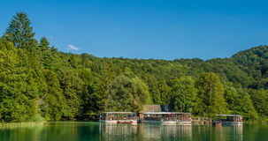 Cachoeiras em lagos Plitvice do parque nacional Foto de Stock