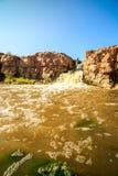 Cachoeiras em Sioux Falls, South Dakota, EUA Imagem de Stock