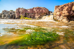 Cachoeiras em Sioux Falls, South Dakota, EUA Imagens de Stock