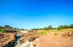 Cachoeiras em Sioux Falls, South Dakota, EUA Fotos de Stock Royalty Free