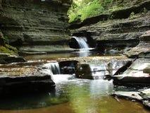 Cachoeiras em um desfiladeiro Imagem de Stock Royalty Free