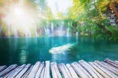 Cachoeiras ensolaradas bonitas fotografia de stock royalty free